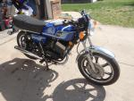 1977 Yamaha RD 400 motorcycle.  This is ...