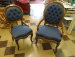 A PAIR OF ANTIQUE CARVED WOOD PARLOR CHAIRS G...