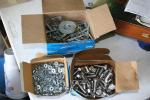 1 box #8 flat washer, 1 box stainless steel h...