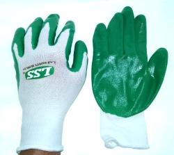12-Pairs  Kinco.  Rubber palm gloves.  Whit...