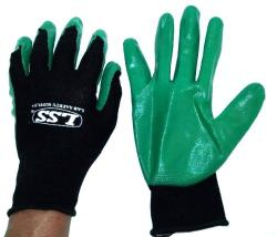 12-Pairs.  Kinco  Rubber palm gloves.  Blac...