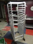 Full-Size Aluminum Sheet Pan Rack on Casters...