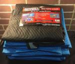 Moving Blankets  Quantity: 7 Color: 6 blue 1 ...