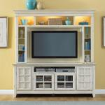 New Generation Antique White Widescreen TV St...