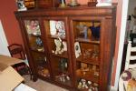 Antique Beautiful Tiger Oak 4 shelf Cupboard ...