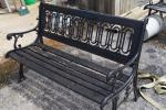 Great iron / wood park bench....