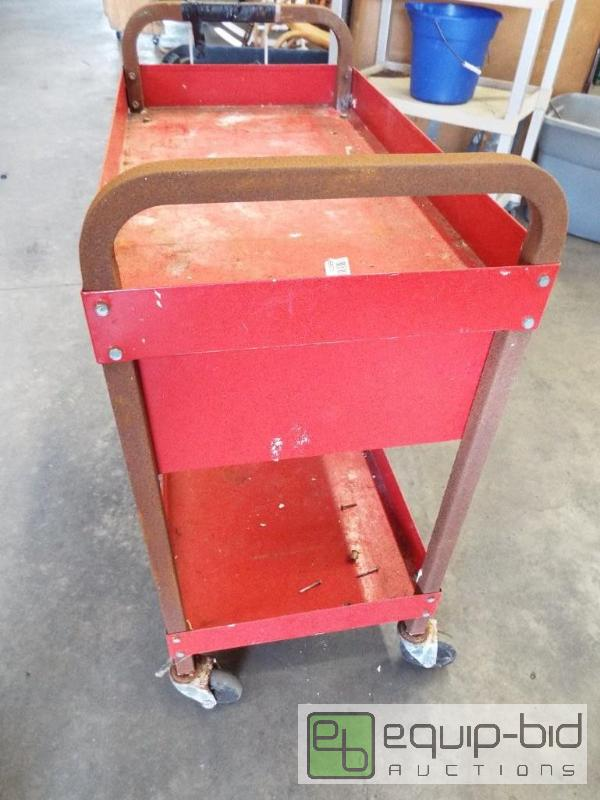 cart on wheels tool cart on wheels may show signs of rust amp als 13277