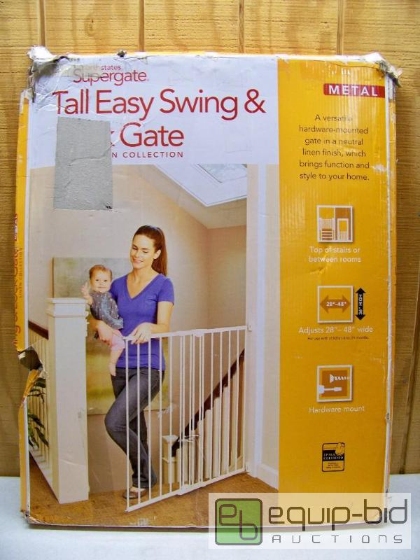 North States Supergate Tall Easy Swing Lock Gate All