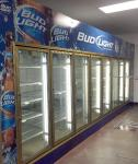 18-Door Commercial Walk-In Cooler & Merchandiser Works Great Includes Unit on Roof & Cooler