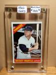 1966 TOPPS MICKEY MANTLE - BOOK VALUE $350 -RARE VINTAGE MICKEY MANTLE OFFERING - WE NEVER GET THESE