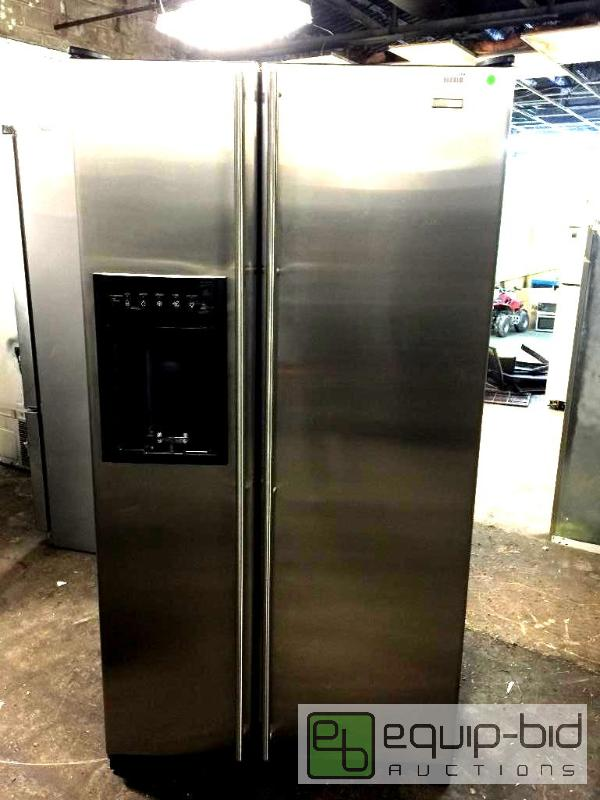 jenn air refrigerator side by side. jenn-air stainless steel counter depth side by refrigerator - jcd2295hes | south kc/grandview indoor-outdoor november equip-bid jenn air