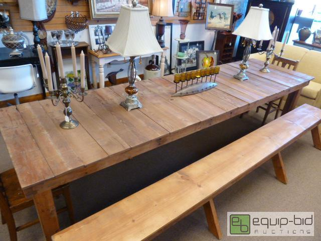 10 ft long farm table 2 10 ft matching lee 39 s summit for 10 ft farmhouse table
