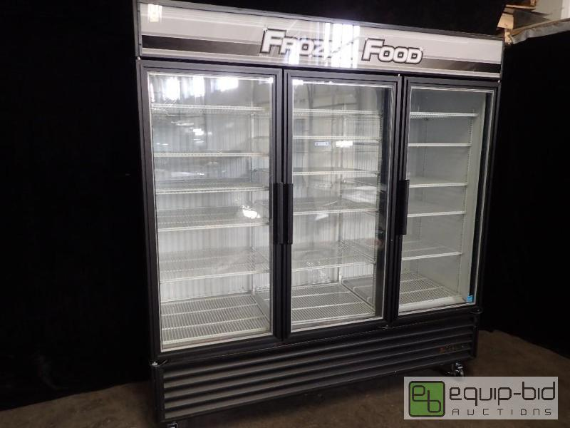 glass front doors true 79 quot glass door merchandiser freezer led gdm 72f ld 29291