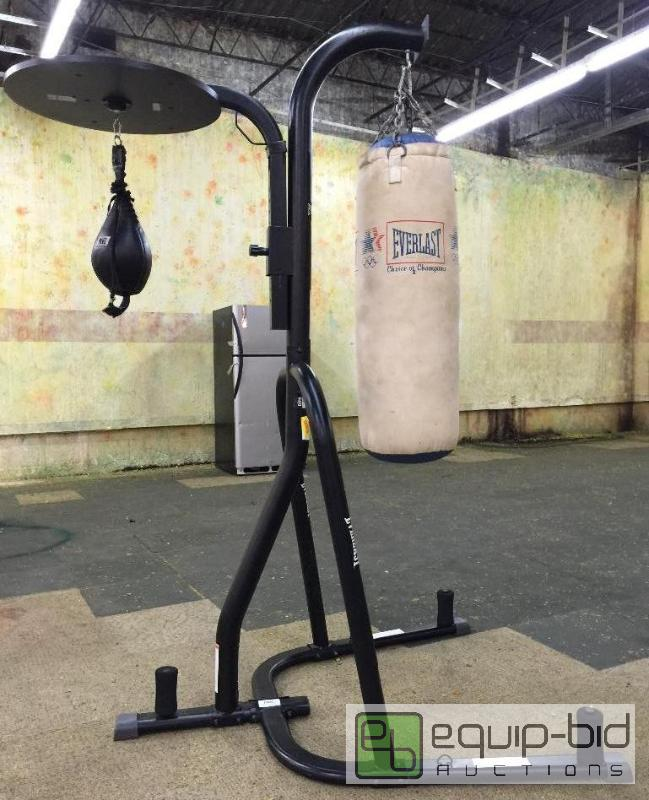 Everlast Dual Station Heavy Bag Stand Dtc Black South Kc Grandview B4 New Years Equip Bid
