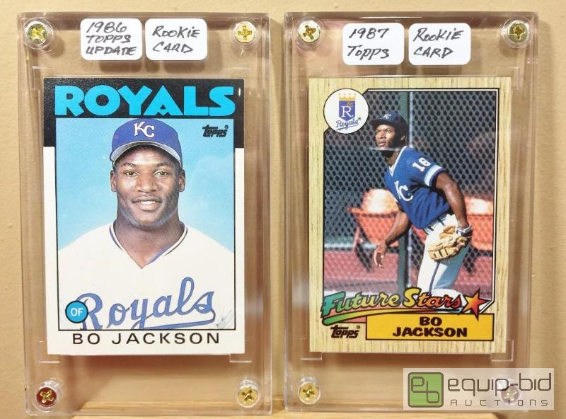 2 Rare Bo Jackson Rookie Cards 1986 Topps Traded 1987
