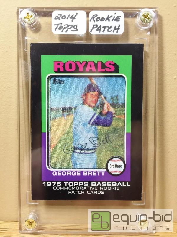 George Brett 1975 Commemorative Rookie Patch Card Very