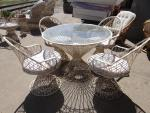Outdoor patio table set.  Patio table with 4 ...