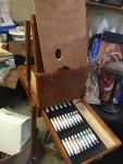 New artist paint easel stand portable folds u...