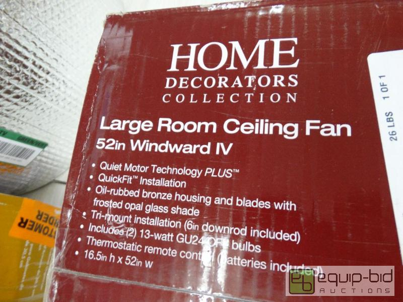 Home decorators large room ceiling fan in box wichita Home decorators windward iv