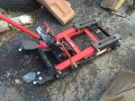New never been used motorcycle lift or also c...