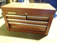 Benchtop 4 Drawer Metal Tool Storage Chest Tools Included