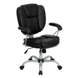 Flash Furniture GO-930-BK-GG Mid-Back Black ...